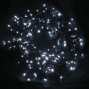 Grinalda de 240 Luzes de Natal Led Branco Frio, 5.5 Mt