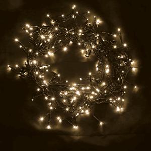 Grinalda de 240 Luzes de Natal Led Branco Quente, 5.5 Mt