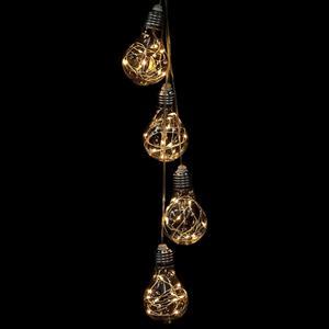 Grinalda de 4 lâmpadas de Natal Branco Quente, 80 cm
