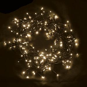 Grinalda de 560 luzes de Natal Led Branco Quente, 140 Cm