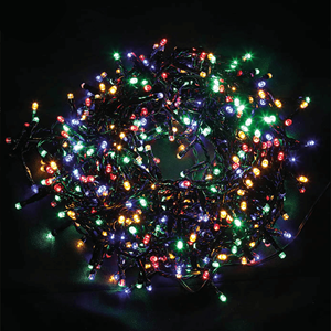 Grinalda de 560 Luzes de Natal Led Multicor, 11 Mt