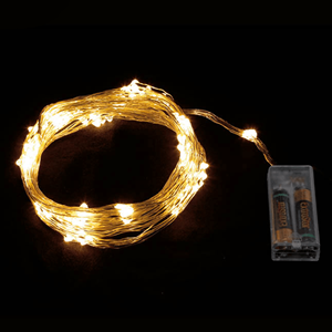 Grinalda de 70 luzes de Natal Led Branco Quente, 90 Cm
