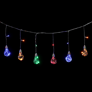 Grinalda de 8 Lâmpadas de Natal Led Multicor, 3 mt