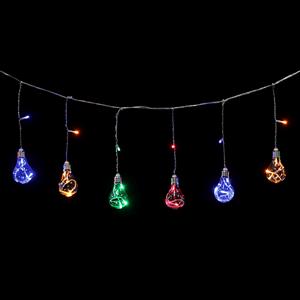 Grinalda de 8 Lâmpadas de Natal Led Multicor, 3 mt