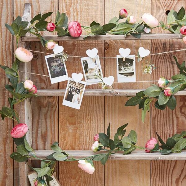 Grinalda Decorativa com Rosas, 2 mt
