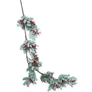 Grinalda Decorativa de Azevinho com Efeito de Neve