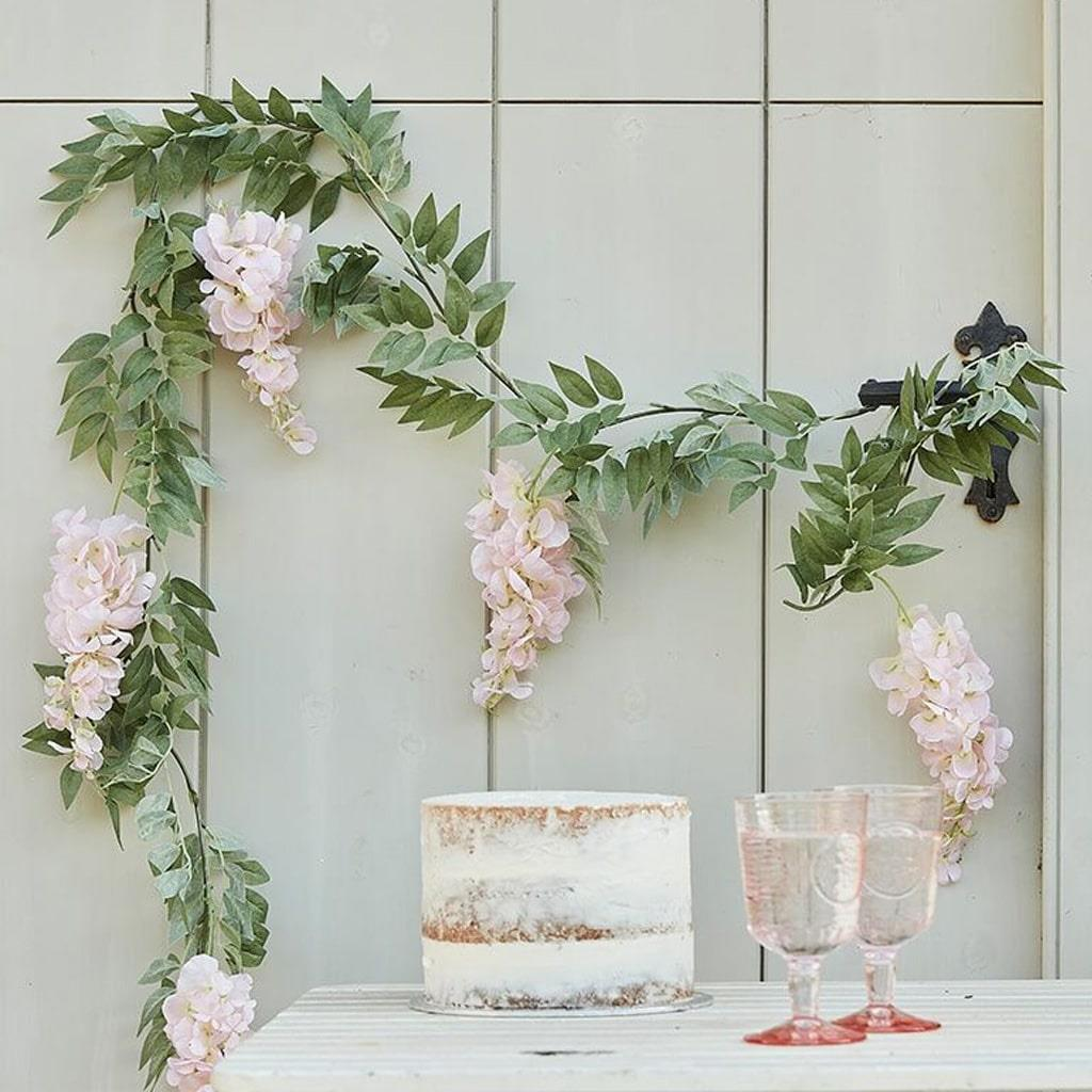 Grinalda Decorativa Floral, 1.80 mt