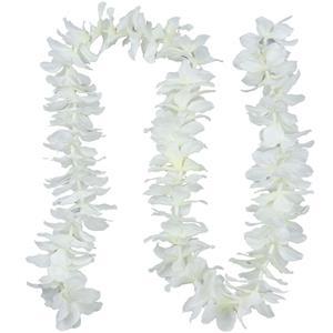 Grinalda Decorativa Flores Brancas, 1 mt