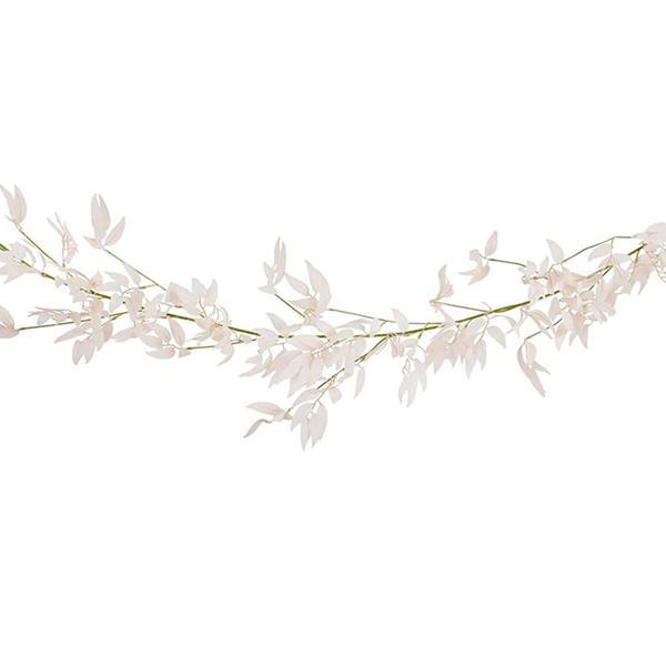 Grinalda Decorativa Folhas Ruscus Rosa, 1,90 mt