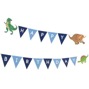 Grinalda Dinossauros Happy Birthday, 1.80 mt