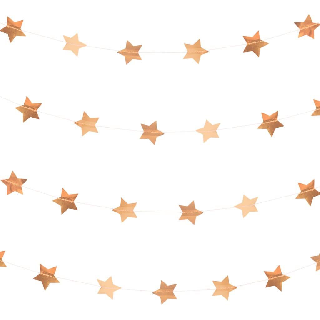Grinalda Estrelas Rosa Gold, 500 cm