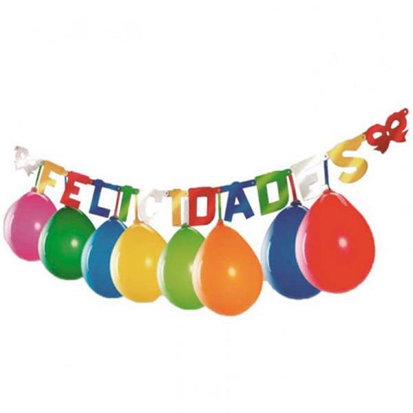 Grinalda Felicidades com Balões, 2 mt