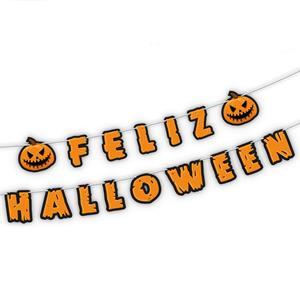 Grinalda Feliz Halloween com Abóboras, 4 mt