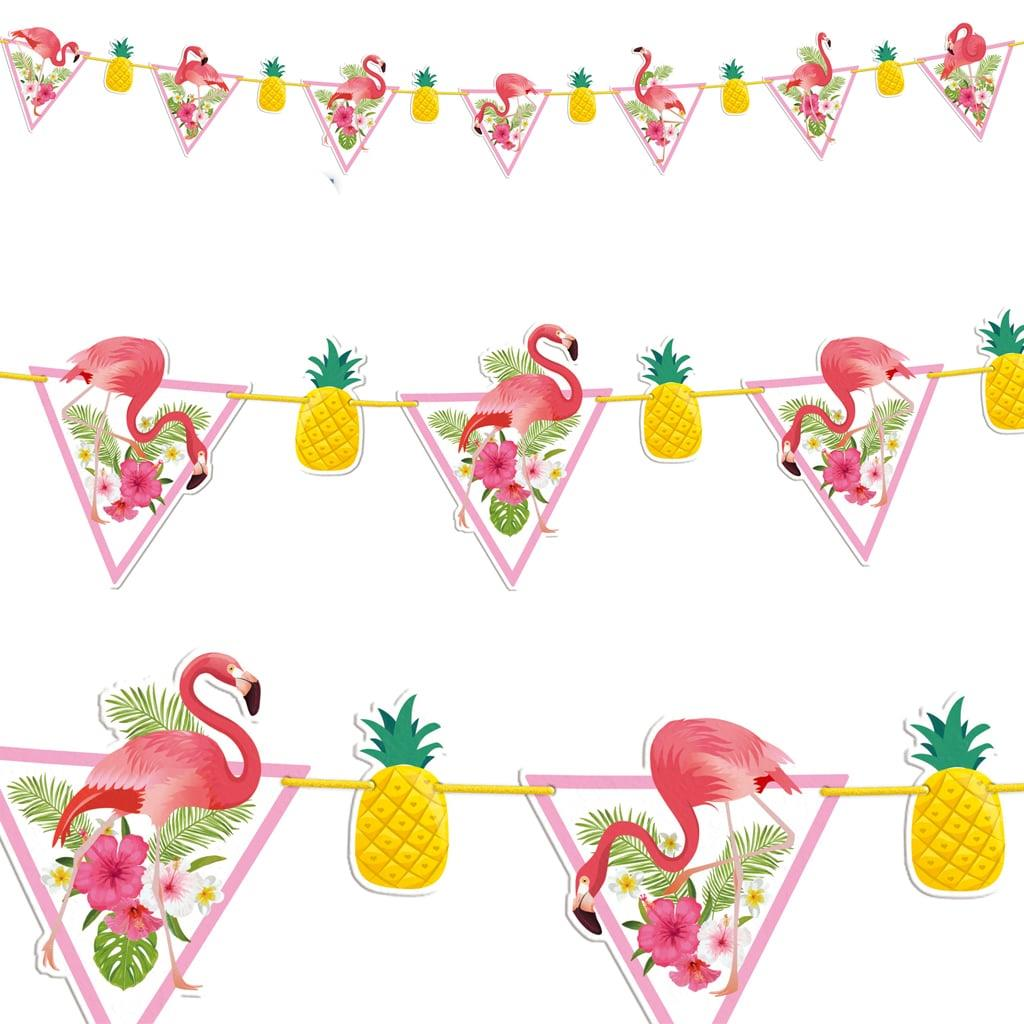 Grinalda Festa Tropical com Flamingos