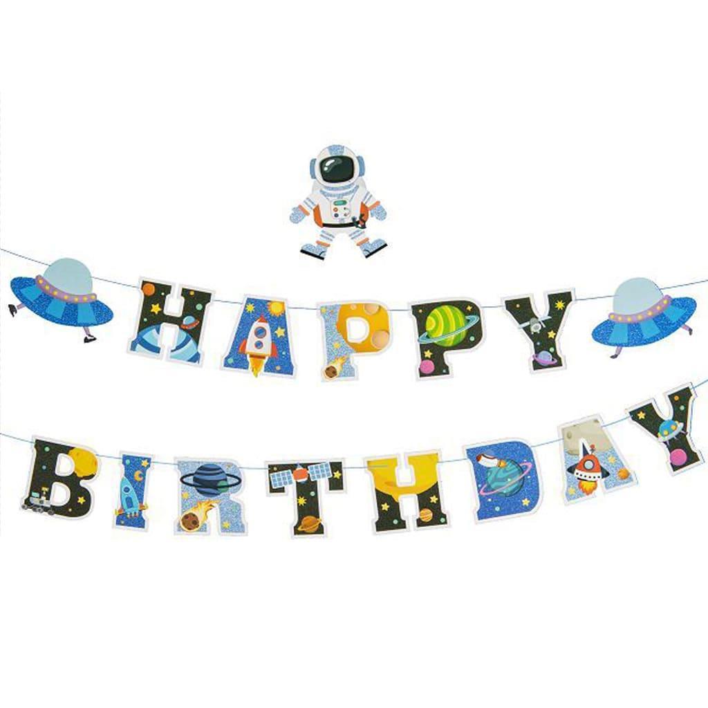 Grinalda Happy Birthday Espaço, 4 mt
