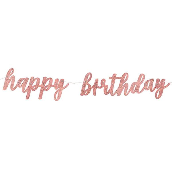 Grinalda Happy Birthday Rosa Gold, 275 cm