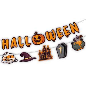 Grinalda Happy Halloween com Elementos Terroríficos, 4 mt