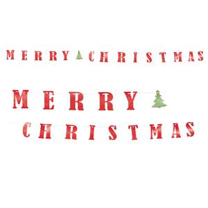 Grinalda Merry Christmas com Pinheirinho, 360 Cm