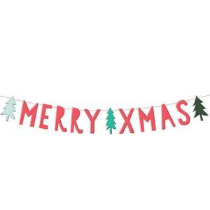 Grinalda Merry Xmas Vermelha, 120 cm