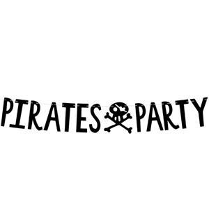 Grinalda Pirates Party Preta, 1 mt