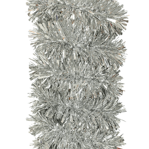 Grinalda Prateada de Natal, 180 Cm
