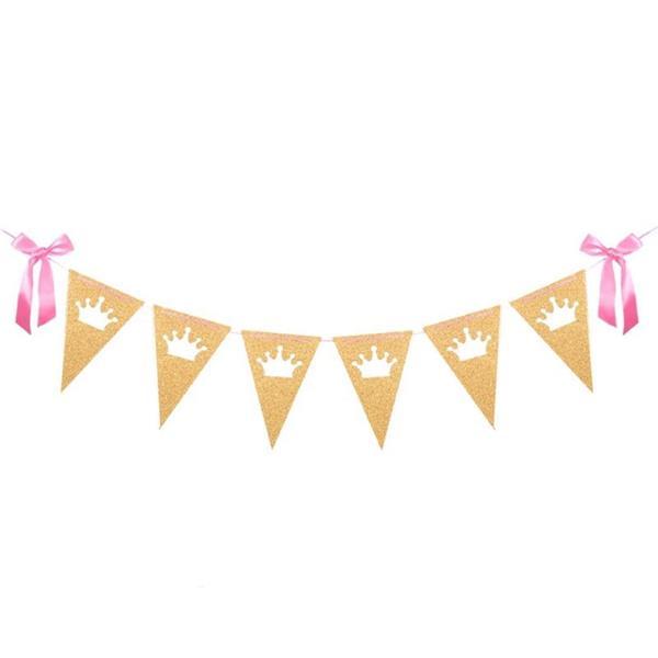 Grinalda Princesa Dourada com Glitter, 250 cm