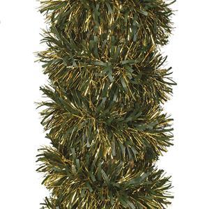 Grinalda Verde e Dourada de Natal, 180 cm