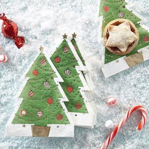 Guardanapos Árvore de Natal Decorada, 12 unid.