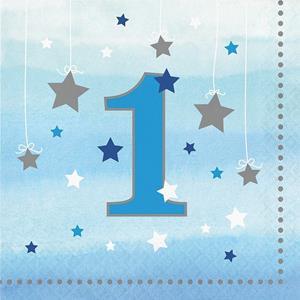 Guardanapos Azuis 1º Aniversário Pequena Estrela, 16 unid.