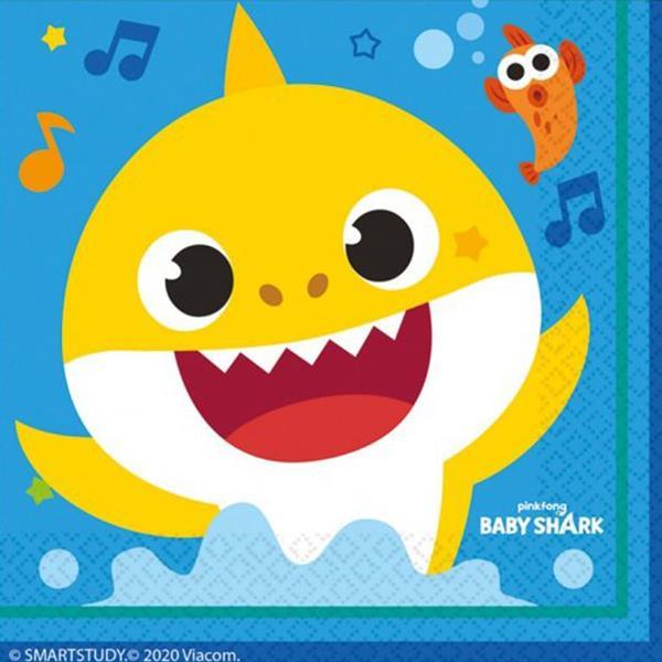 Guardanapos Baby Shark, 16 unid.