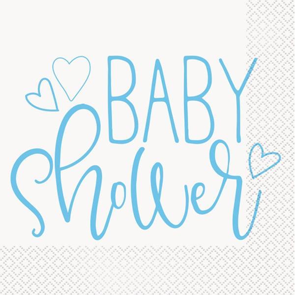 Guardanapos Baby Shower Azul, 16 unid.