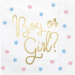 Guardanapos Boy or Girl, 20 Unid.