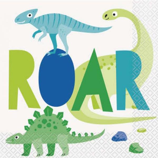 Guardanapos Dino Roar, 16 unid.