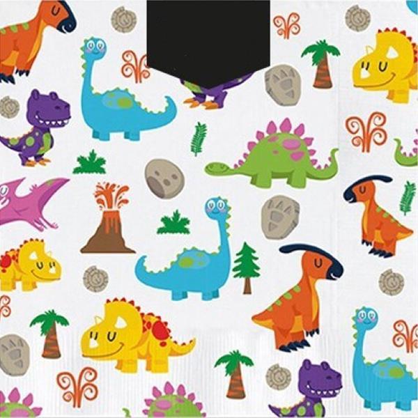Guardanapos Dinossauros Amorosos, 30 unid.