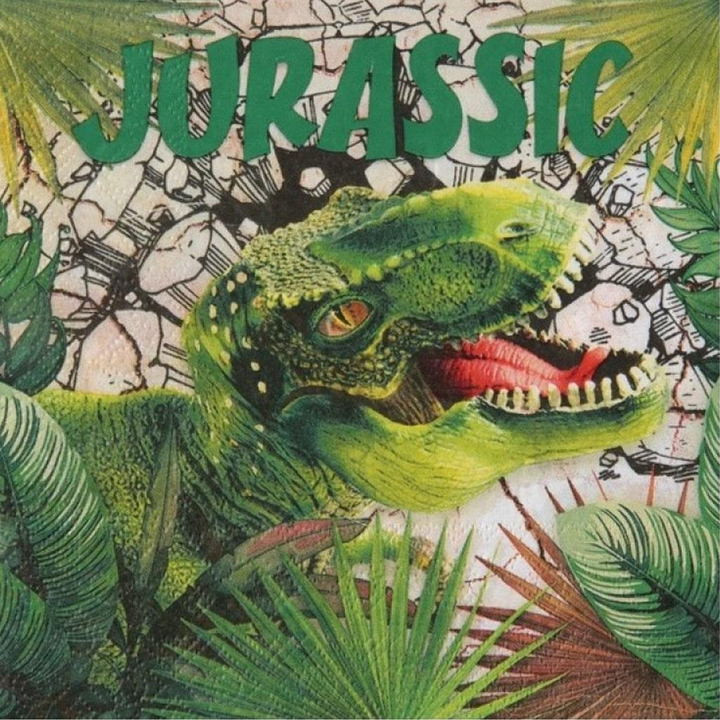 Guardanapos Dinossauros T-Rex, 20 unid.