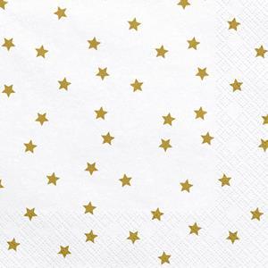 Guardanapos Estrelas Douradas, 20 unid.