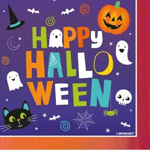 Guardanapos Happy Halloween, 16 unid.