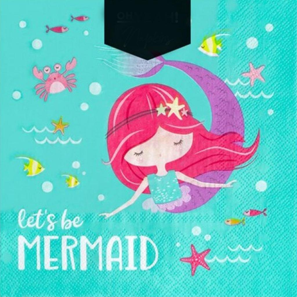 Guardanapos Let´s Be Mermaid, 30 unid.