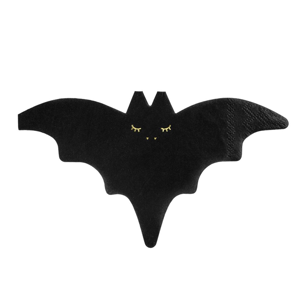 Guardanapos Morcego Preto, 20 unid.