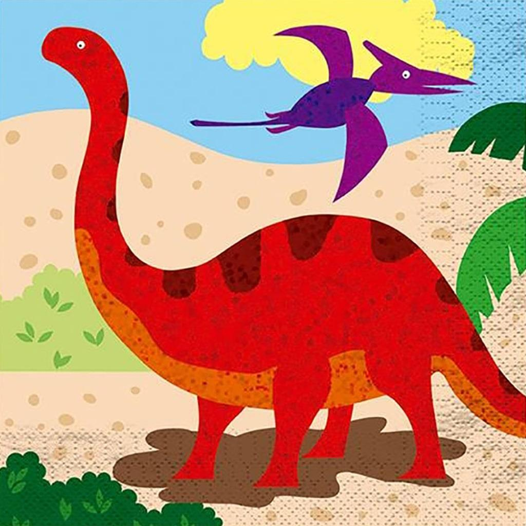 Guardanapos Mundo dos Dinossauros, 12 unid.