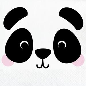Guardanapos Panda Face, 16 unid.