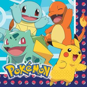 Guardanapos Pokémon, 16 unid.