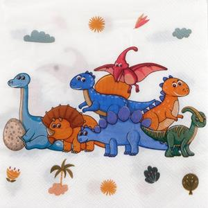 Guardanapos Reino dos Dinossauros, 12 unid.