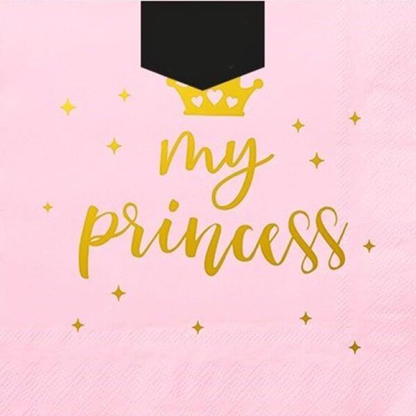 Guardanapos Rosa Princesa, 12 unid.