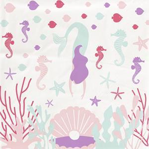 Guardanapos Sereia e Animais do Mar, 20 unid.