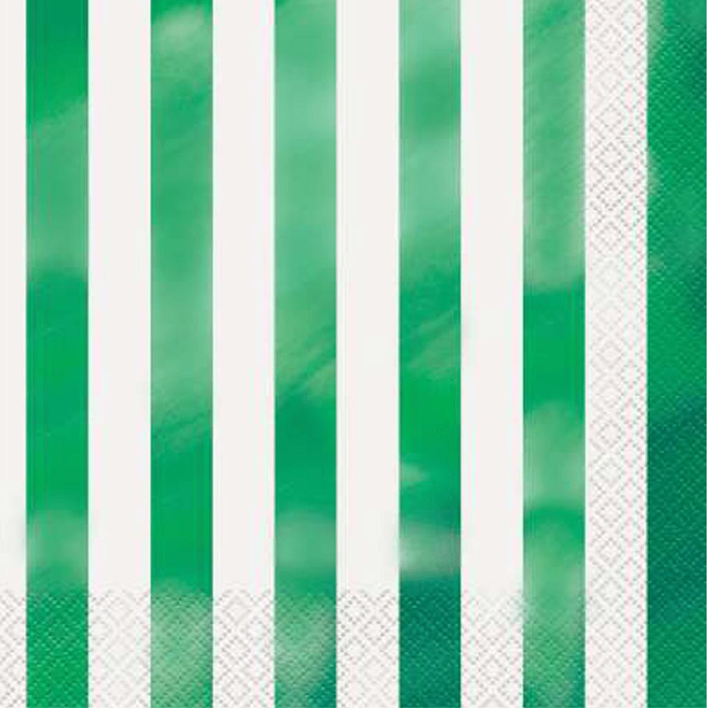 Guardanapos Verde Metalizado, 16 Unid.