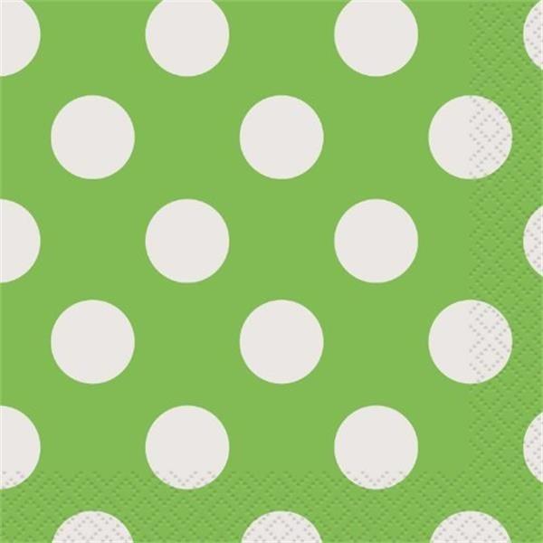 Guardanapos Verdes Bolinhas
