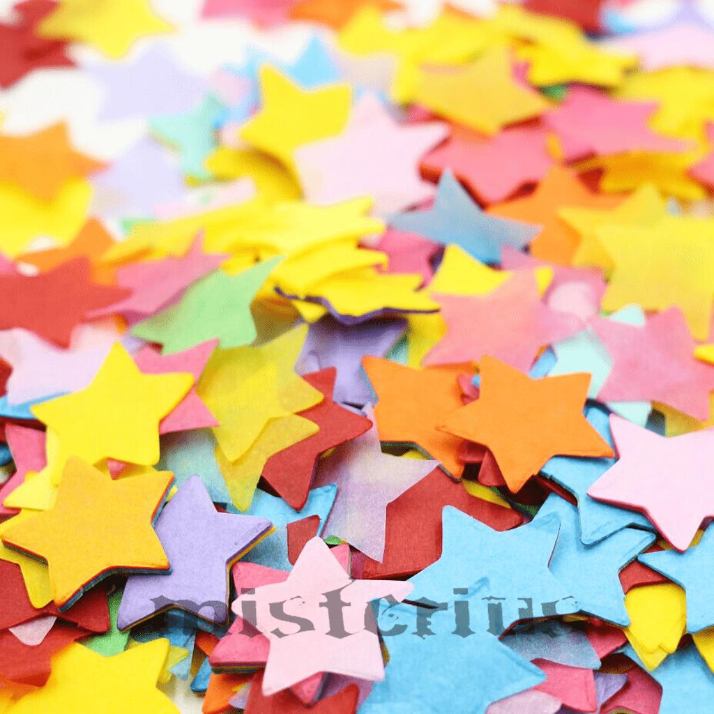 1 Kg. Confetis Estrela papel de seda