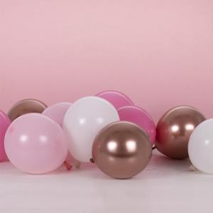 Kit 40 Balões Rosa e Branco para Estrutura de Número