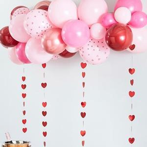 Kit 45 Balões Rosa São Valentim